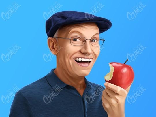 种植牙手术简单,创伤小,做完就可以吃东西